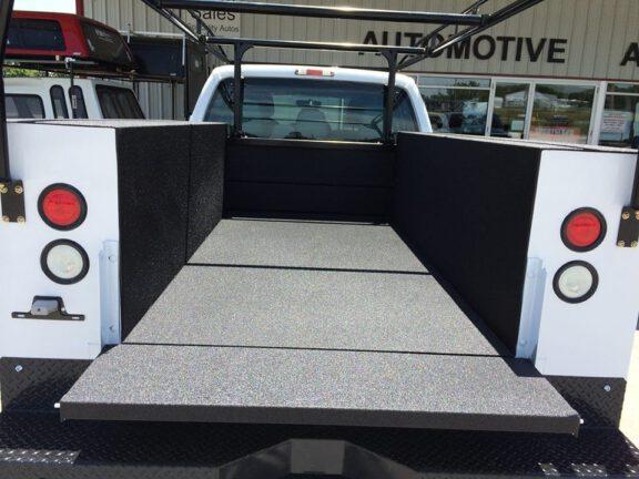Bed liner on commercial trucks