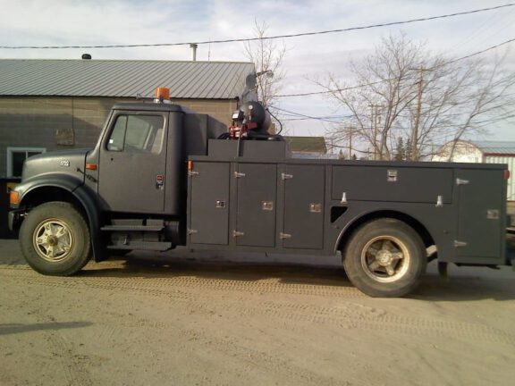 Commercial truck sprayed with ArmorThane STS 00