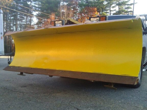Plow blade after ArmorThane