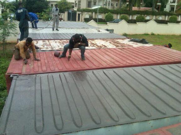 Portakabin roof repair