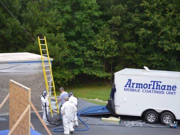 Preparing for roof coating