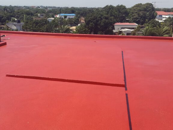 Red roof coating