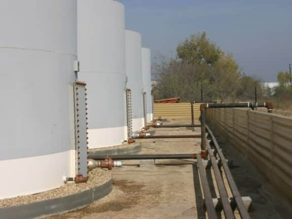 Secondary containment ArmorThane and geotextile combo 3