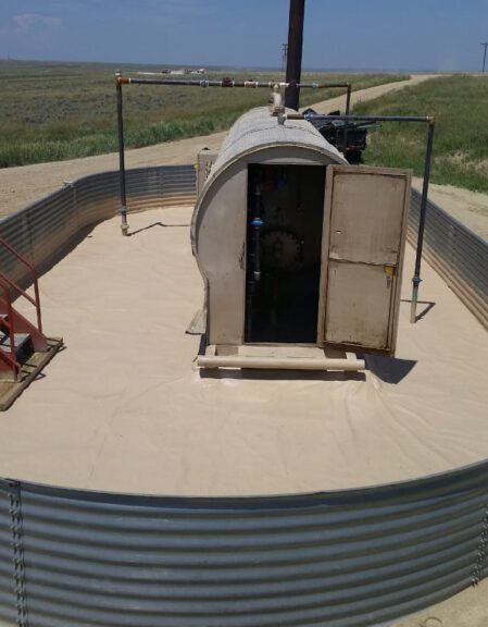 Secondary containment ArmorThane and geotextile combo 5