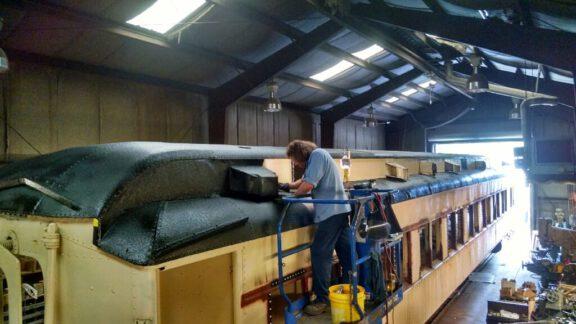 Train car coating