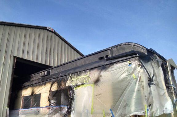Train car roof coating