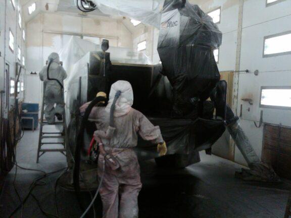Utility truck coatings