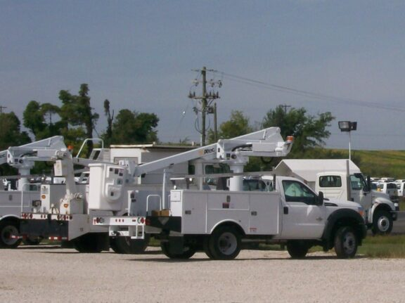 Utility truck fleet coatings