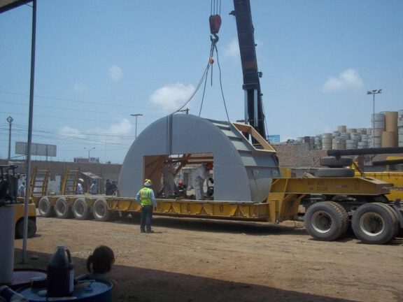 Water tank arrives for coating