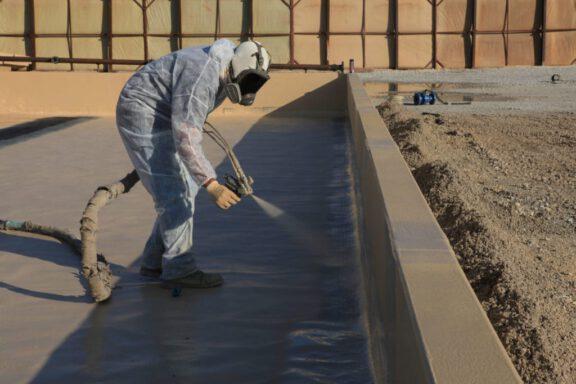 Polyurea Spray Secondary Containment
