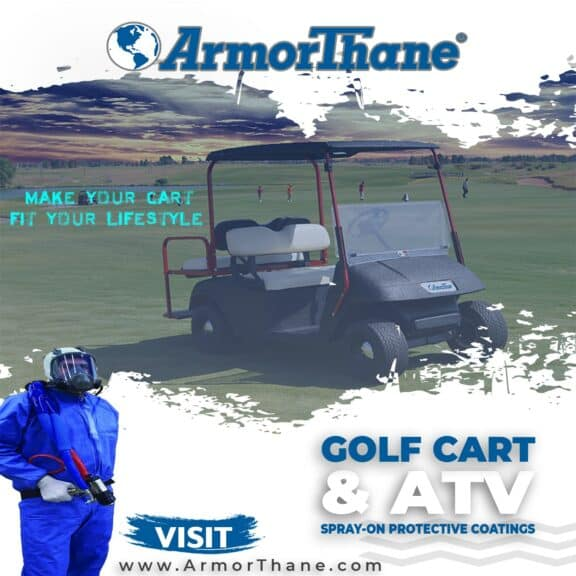 ArmorThane Golf Cart ATV Bedliner