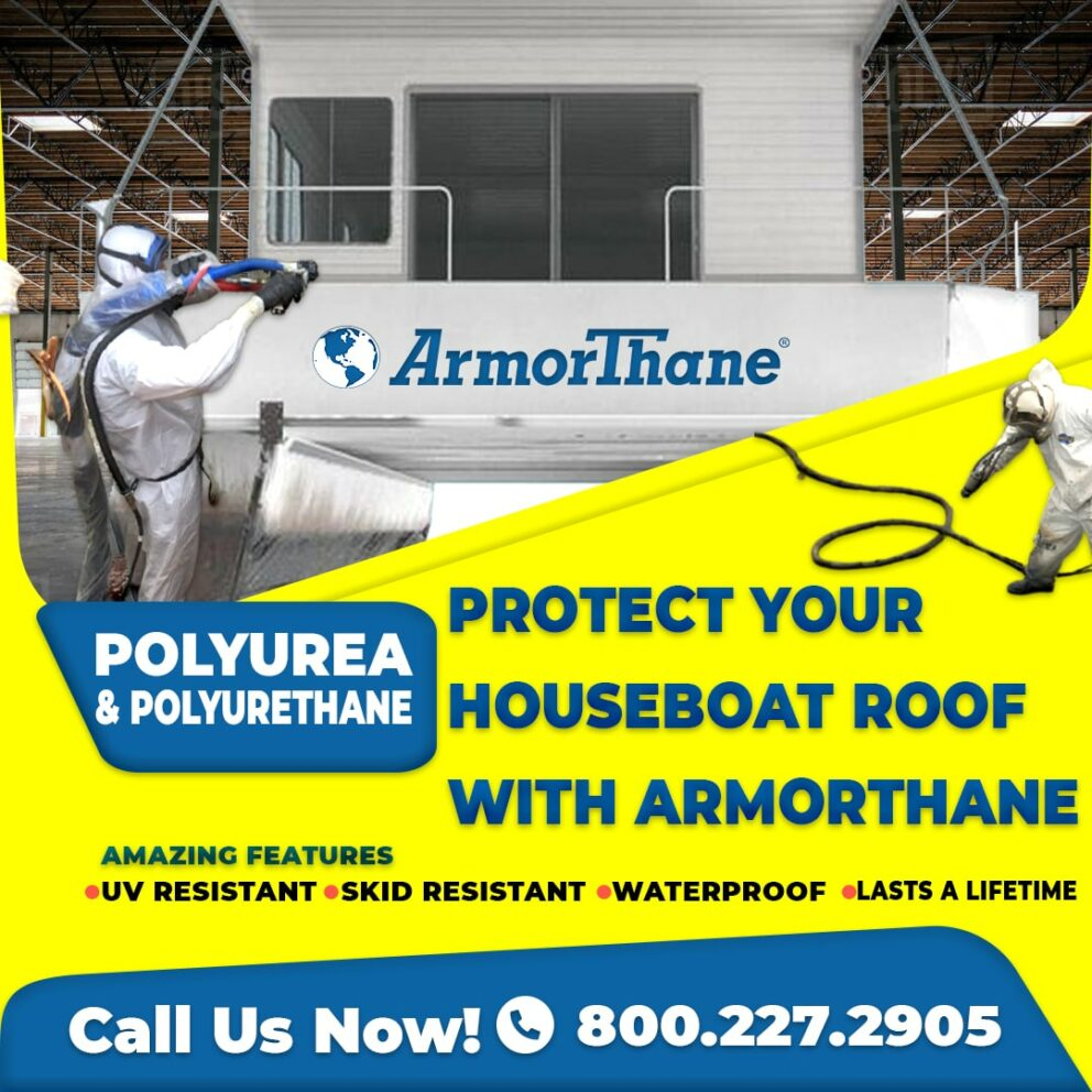 Polyurea houseboat ArmorLiner